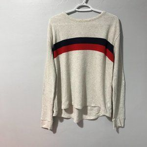 Gap Womens Ivory Long Sleeve Round Neck Pullover M